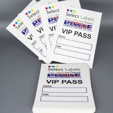 100 Customised Printed Self-Adhesive Fabric Labels From £89